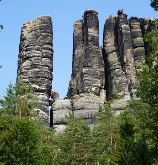 Elbsandstein Affensteine 550-575 3er Gruppe